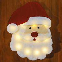Tête de père Noël en mousse à Led