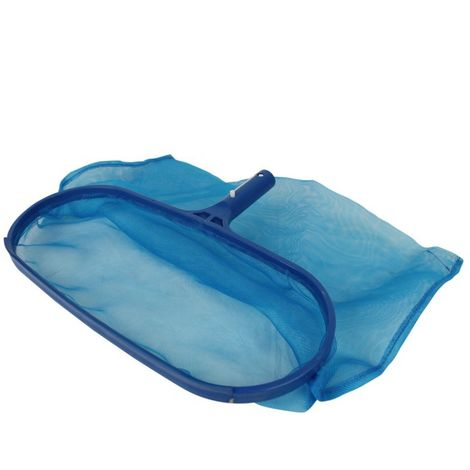 Tête d'épuisette de fond pour piscine adaptable sur manche standard ou télescopique - Bleu - Linxor
