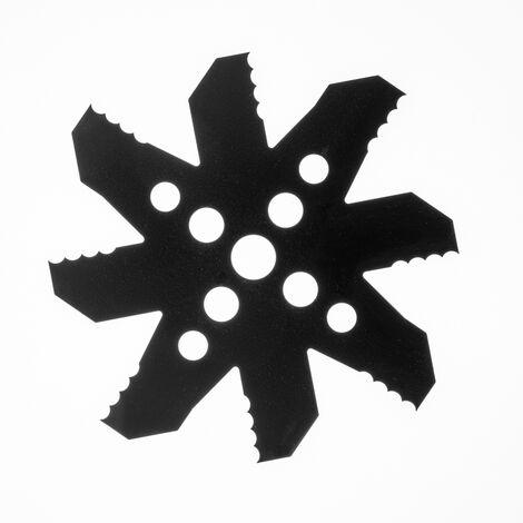Tête Disque Lame Couteau plan Pour Débroussailleuse Broyeuse Ronces Roseaux Broussailles D'origine Bazargiusto - nouveau modèle