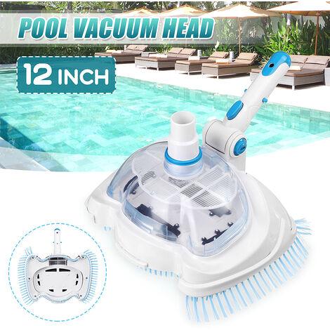"""Tête d'outil de nettoyeur d'étang de brosse de tête d'aspirateur de piscine de Spa 30x20cm pour le tuyau d'aspiration / poteaux d'extension de diamètre 3cm / 1.2 """""""