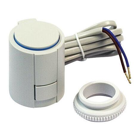Tete électrique à ouverture manuelle possible''sans courant fermé'' 230v pour collecteur plancher chauffant