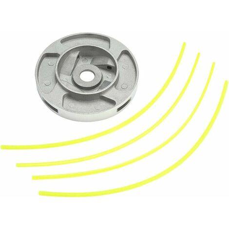 Tête faucheuse , Têtes de coupe, Coupe-bordure 2 fil bobine Tête fil nylon pour Débroussailleuse à essence