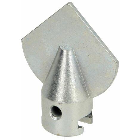 Tête lame flèche 22 mm x diamètre 45 mm pour tuyau 50 - 100 mm