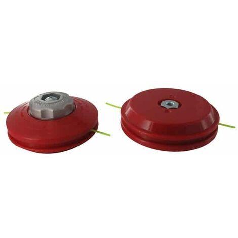 Tête pro 2 fils nylon TECOMEC - adaptateur M10 X 1,50 FG à déroulement manuel