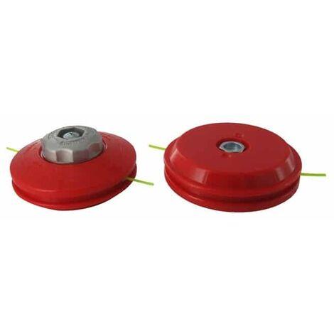Tête pro 2 fils nylon TECOMEC - adaptateur M8 X 1,25 FG à déroulement manuel