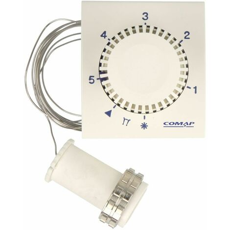 Tête thermostatique Comap M 30 x 1,5 avec réglage à distance, capillaire 2 m