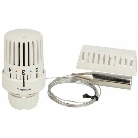 Tête thermostatique Oventrop Uni LD bulbe à distance, blanc, 101 16 85