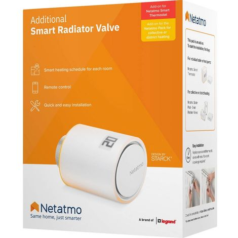 Tête thermostatique sans fil Netatmo NAV01-DE 5 à 30 °C 1 pc(s)