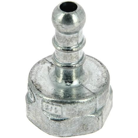 Tétine gaziniere fem 15-21 pour tuyau O10 gaz butane/propane