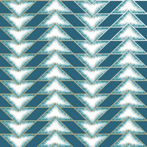 Teton Geometric Wallpaper Holden Teal Gold Metallic Chevron Contemporary