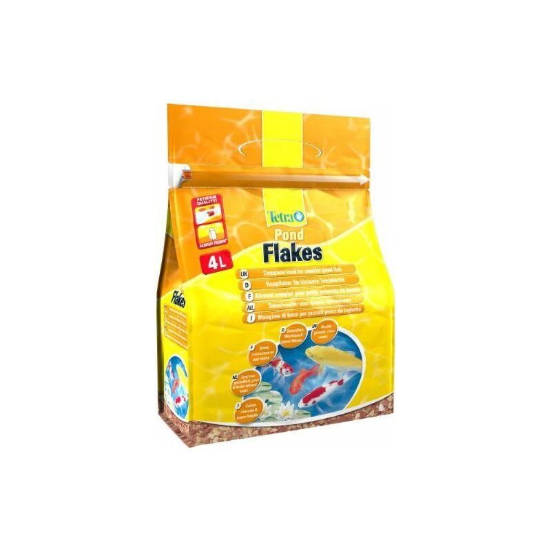 Aliment Complet Pond Flakes en Flocons pour Poisson de Bassin - 4L - Tetra