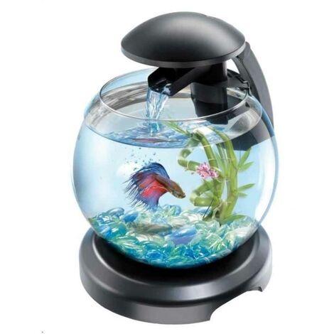 Tetra - Aquarium Cascade Globe Noire avec Filtration EasyCrystal - 6,8L
