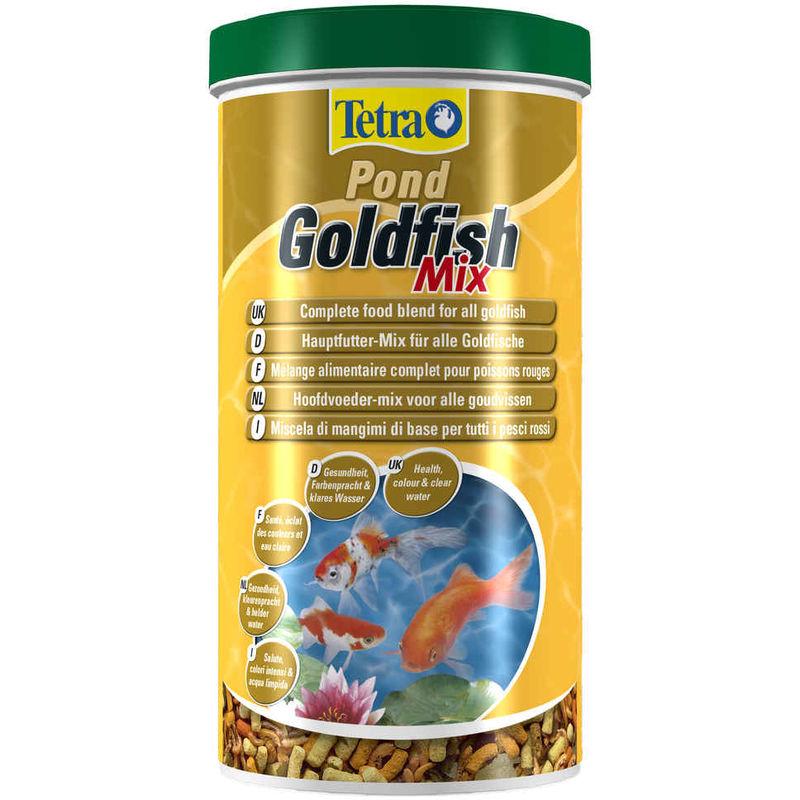 Mélange Pond Goldfish Mix pour Poissons Rouges - 1L - Tetra
