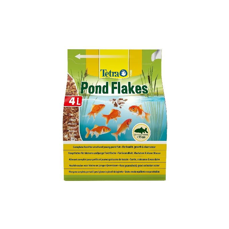 POND FLAKES, Alimento en Escamas para Peces de Estanque, 4 L - Tetra