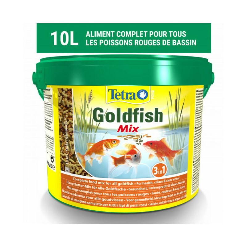 Alimentation Pond Goldfish Mix pour poissons de bassin Contenance 10 litres - Tetra