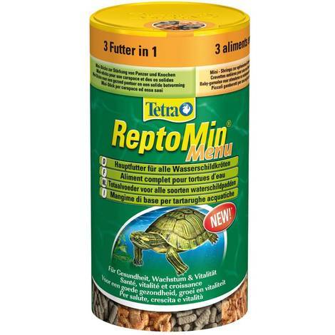 TETRA REPTOMIN MENU Grundfutter für Wasserschildkröten 250 ml 3 Futter in 1 Stück