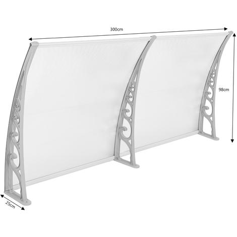 Tettoie da Esterno,Tenda Cappottina Pensiline,pensiline ad arco per porta o finestra per esterno - 100x 300CM