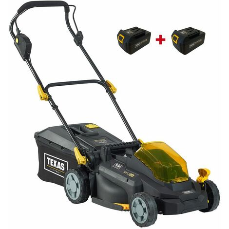 Texas Razor 3300Li cordless battery lawnmower including two 3.0Ah 18V batteries 33cm cutting width