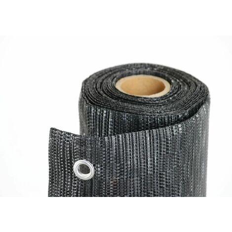 Texstyle All Black, brise-vue à occultation design mt. H. 1X5