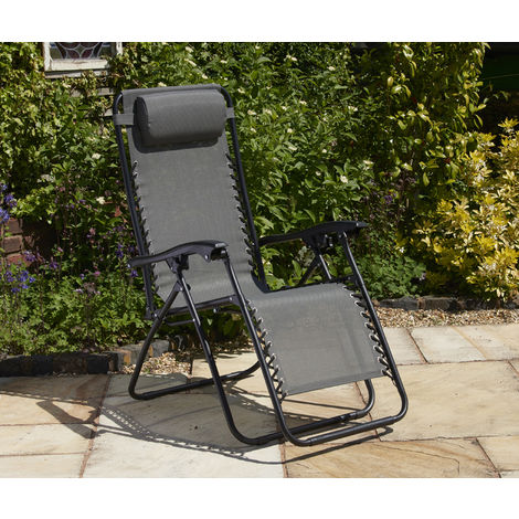 Textaline Relaxer Chair Grey (Pack of 2)
