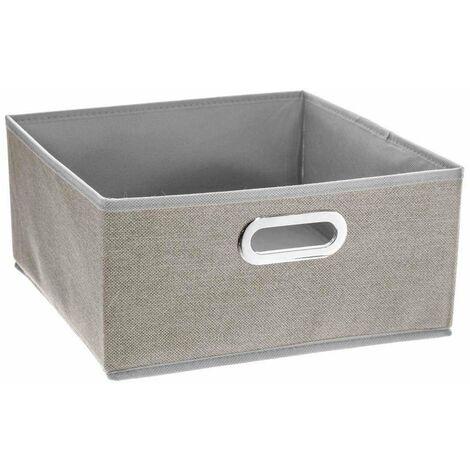 Textil Aufbewahrungsbox Kleiderbox 31 x 15 cm grau