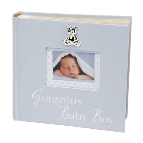 "Textured Album ""Gorgeous Baby Boy"" 6"" x 4"""