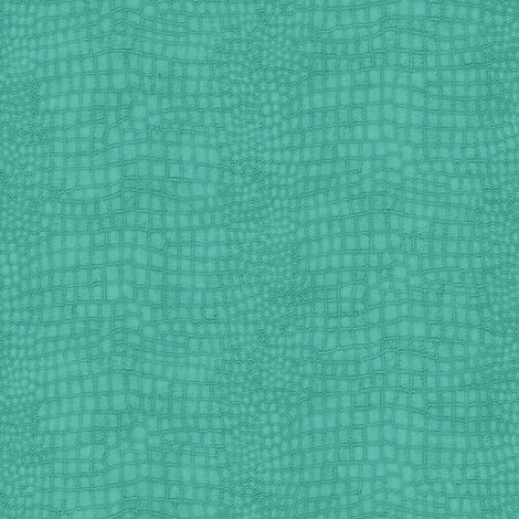 Textured Animal Wallpaper Crocodile Green Teal Paste The Wall Vinyl Superfresco