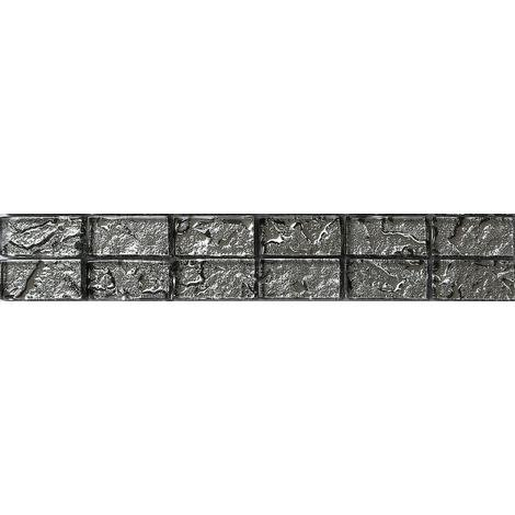 Textured Lava Liquid Silver Brick Bathroom Kitchen Feature Mosaic Tiles MB0121