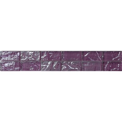 Textured Lava Purple Brick Bathroom Kitchen Feature Mosaic Tiles MB0119