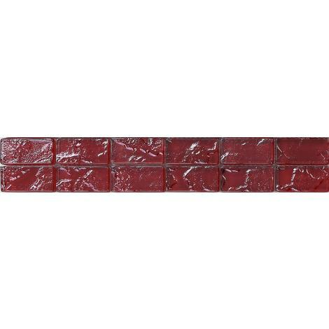 Textured Lava Red Brick Bathroom Kitchen Feature Mosaic Tiles MB0123