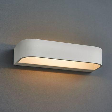 Textured Matt White Paint 1Lt Wall Light 6W Aluminium Suitable For Outdoor