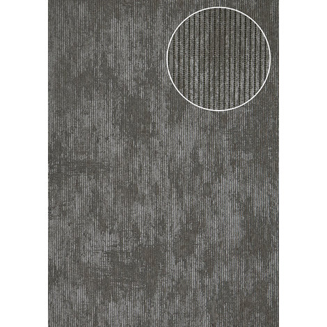 Textured wallpaper wall Atlas COL-563-5 non-woven wallpaper textured Ton-sur-ton shimmering anthracite blue-grey 5.33 m2 (57 ft2)