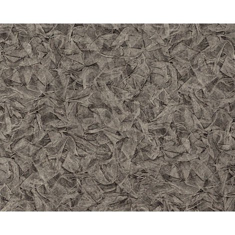 Textured wallpaper wall EDEM 9086-29 hot embossed non-woven wallpaper embossed unicoloured shimmering grey silver platinum 10.65 m2 (114 ft2)
