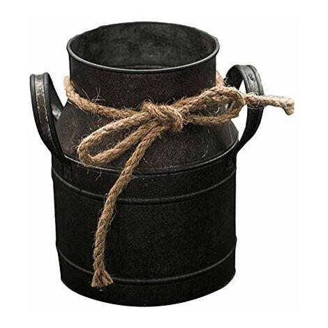 teyiwei - Vaso da fiori vintage in metallo, per piante, ortaggi, fiori, cestino, cestino, portavaso