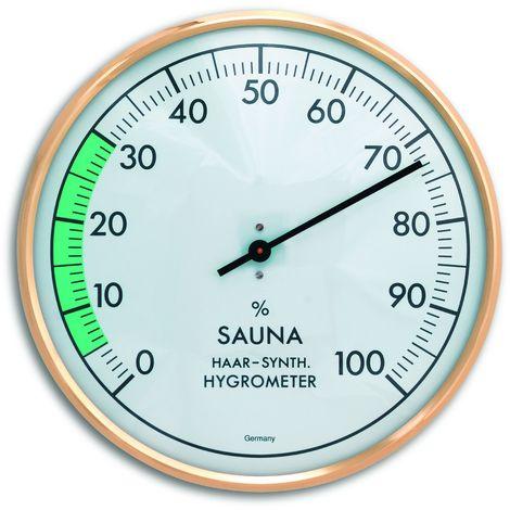 12/x 12/x 4/cm Bianco TFA 40.1053.50/Termometro per Sauna con Anello in policarbonato