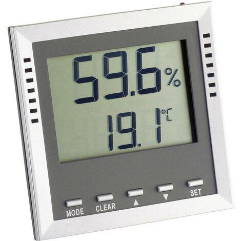 TFA Dostmann Klima Guard Thermo-/Hygrometer Silber W09229
