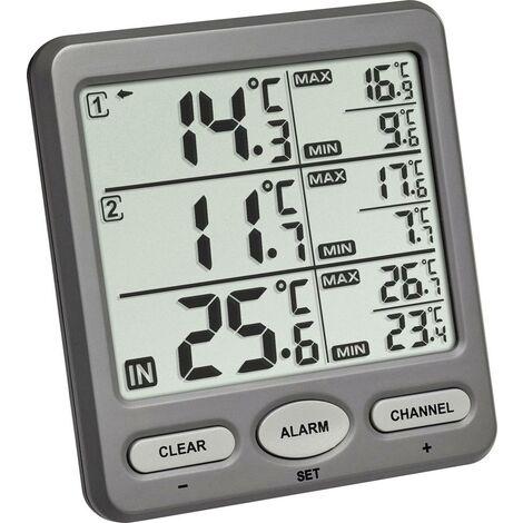 TFA Dostmann TRIO Funk-Thermometer Anthrazit X881011