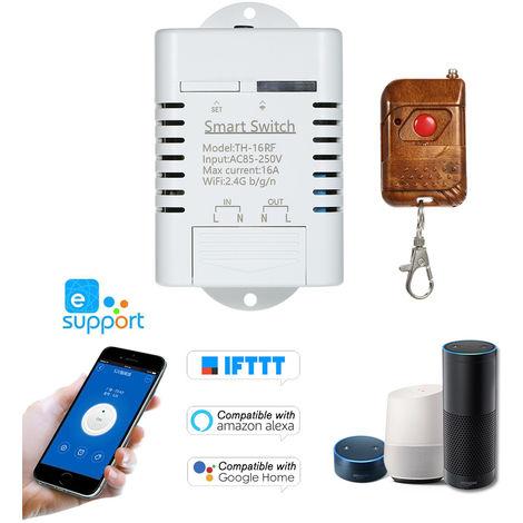 TH-16 Interruptor de RF de 433 MHz Wifi, 16A / 3500W monitorizacion de la temperatura Smart Switch