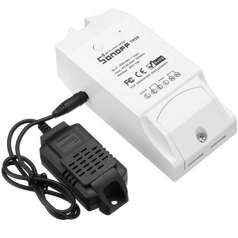 TH10 / TH16 DIY Smart Home WiFi Módulo de termostato inalámbrico de temperatura y humedad