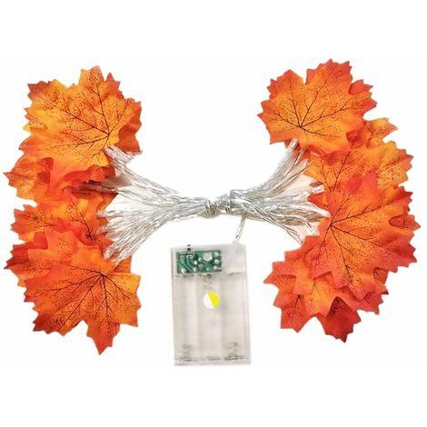 Thanksgiving LED feuille d'érable chaîne lumière noël vacances décoration mariage extérieur lanterne fête lumière