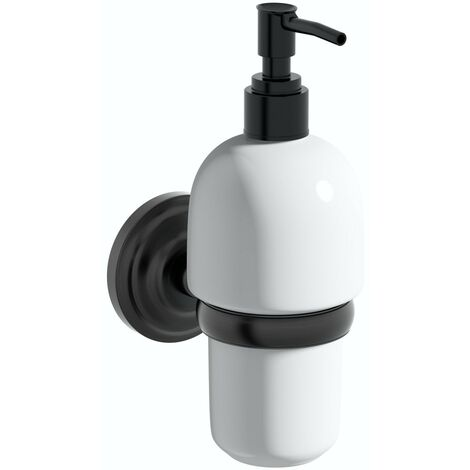 The Bath Co. 1805 black soap dispenser and holder