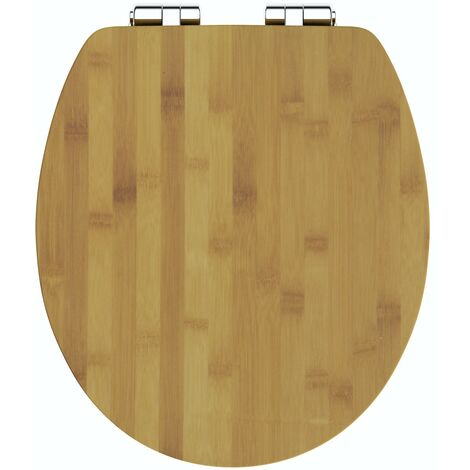 The Bath Co bamboo toilet seat with top fixing soft close quick release hinge