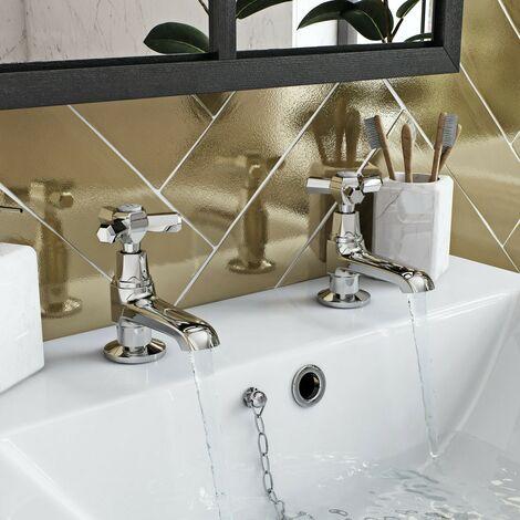 The Bath Co. Beaumont basin pillar taps