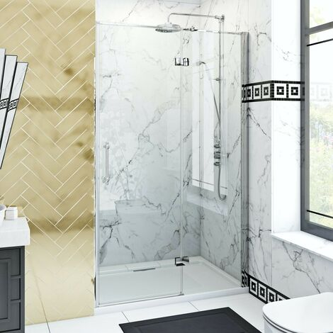 The Bath Co. Beaumont traditional 8mm hinged shower door 900mm