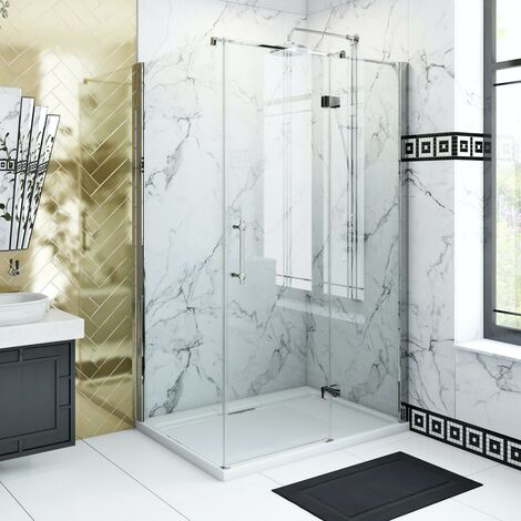 The Bath Co. Beaumont traditional 8mm hinged shower enclosure 900 x 760