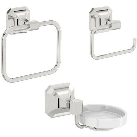 The Bath Co. Camberley 3 piece cloak room accessory set