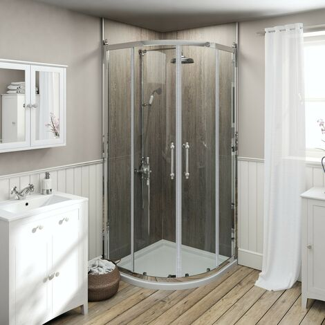The Bath Co. Camberley 8mm traditional framed quadrant enclosure 900 x 900