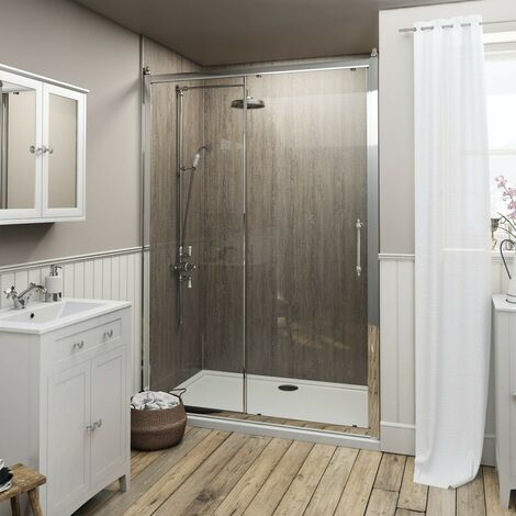 The Bath Co. Camberley 8mm traditional sliding shower door 1000mm
