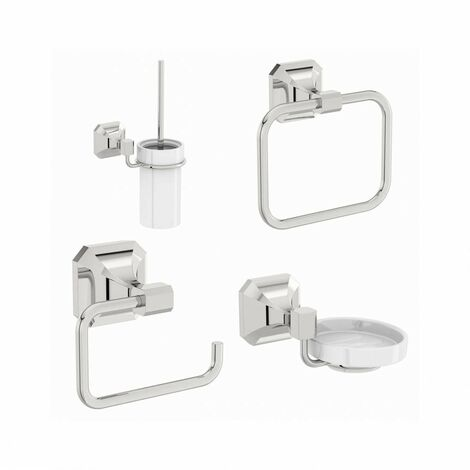 The Bath Co. Camberley cloakroom accessory set