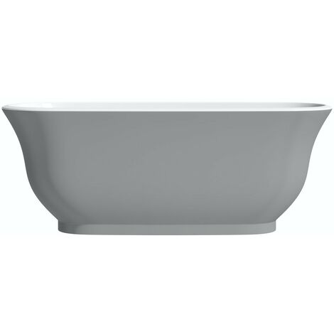The Bath Co. Camberley gloss grey traditional freestanding bath 1500 x 720